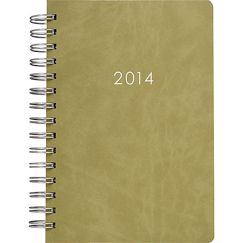 Harken back to your weekend creekside hike while planning out your year. Paper Source's Moss 2014 Date Book ($30) can help you keep track of work appointments — and Autumn strolls — to come.