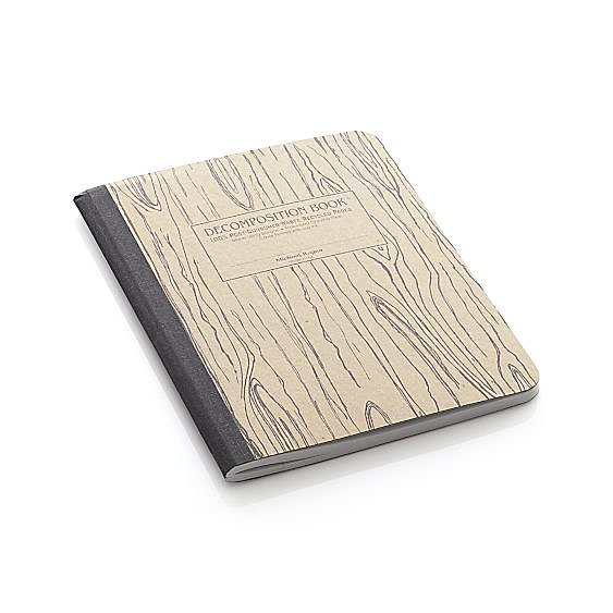 Meetings won't be such a bore when you're taking notes in Crate and Barel's Wood Grain notebook ($8) that'll remind you of your school days.