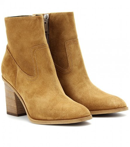 Saint Laurent HUNTING SUEDE ANKLE BOOTS