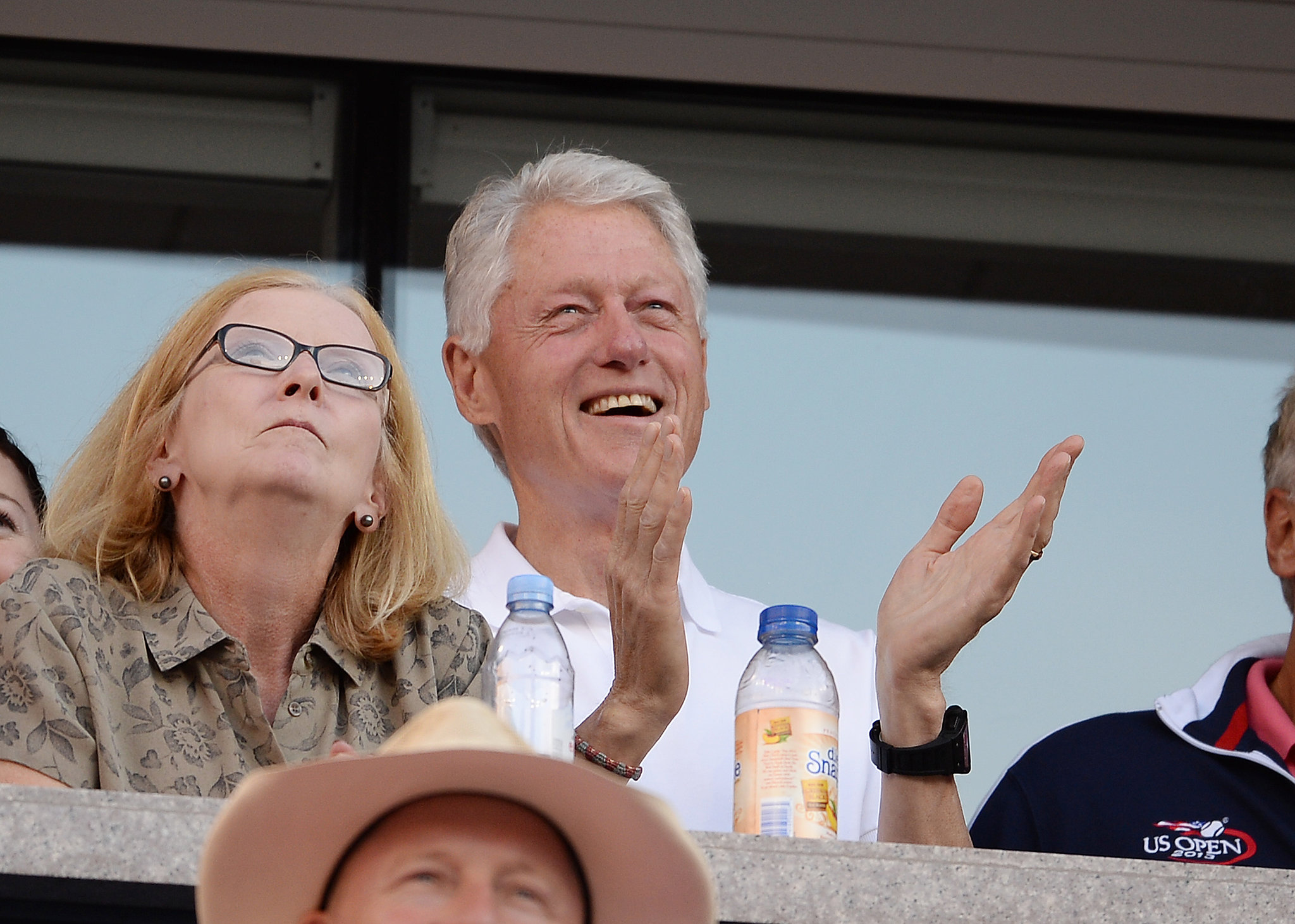 Bill Clinton had a good time watching the tennis.