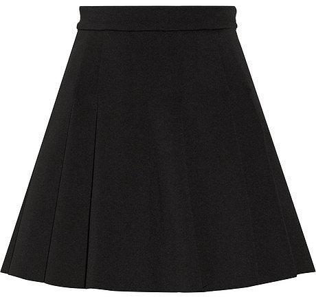 T by Alexander Wang Pleated neoprene skirt