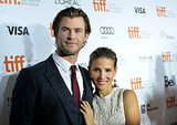 Elsa Pataky looked proud of Chris Hemsworth at his Rush event.