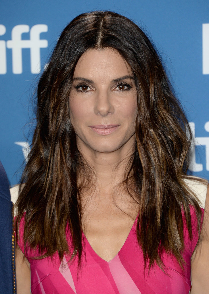 We're loving this wild, textured hair on Sandra Bullock at the Gravity press conference.