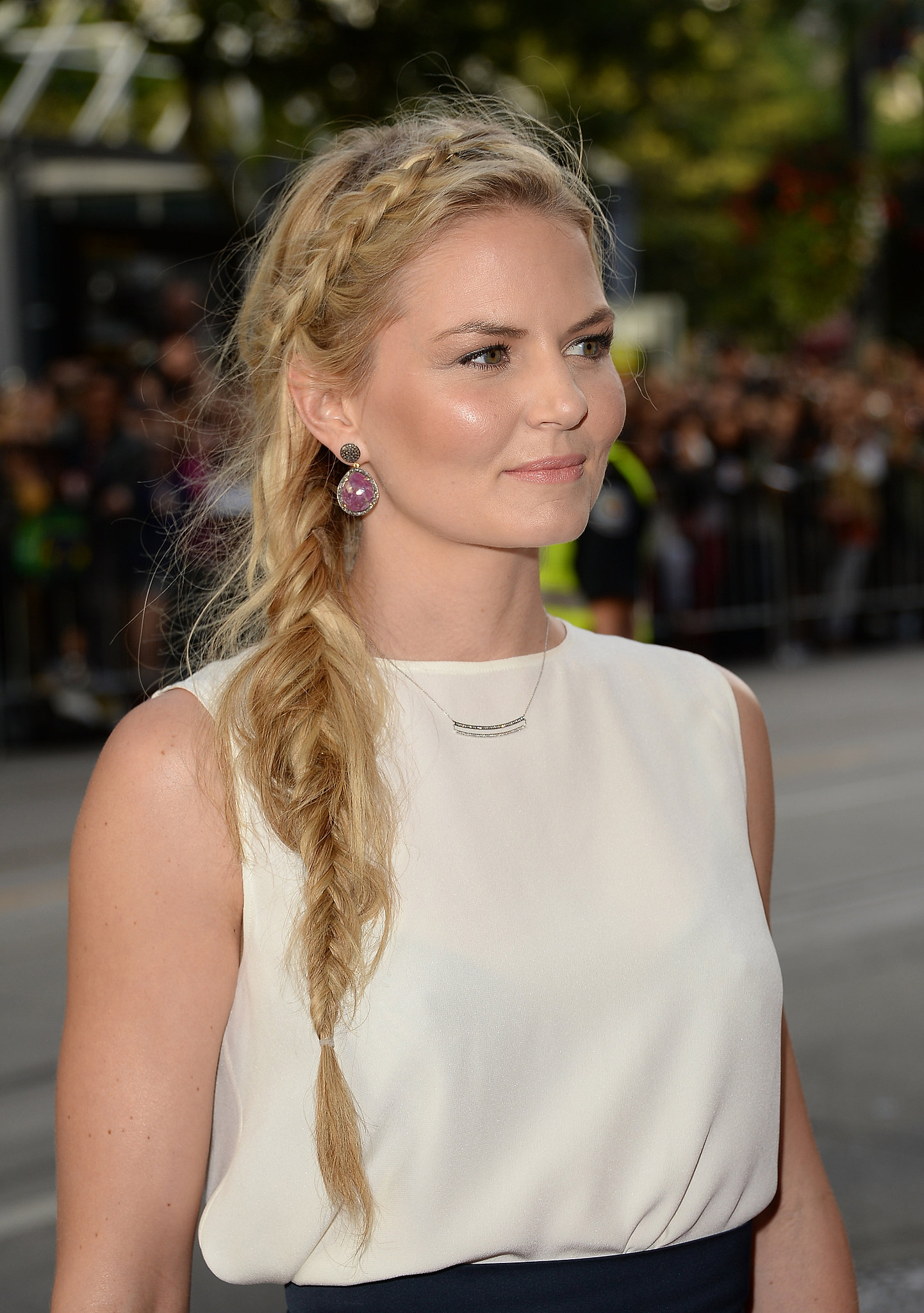 Jennifer Morrison had a bevy of braids on her way to the Gravity premiere.