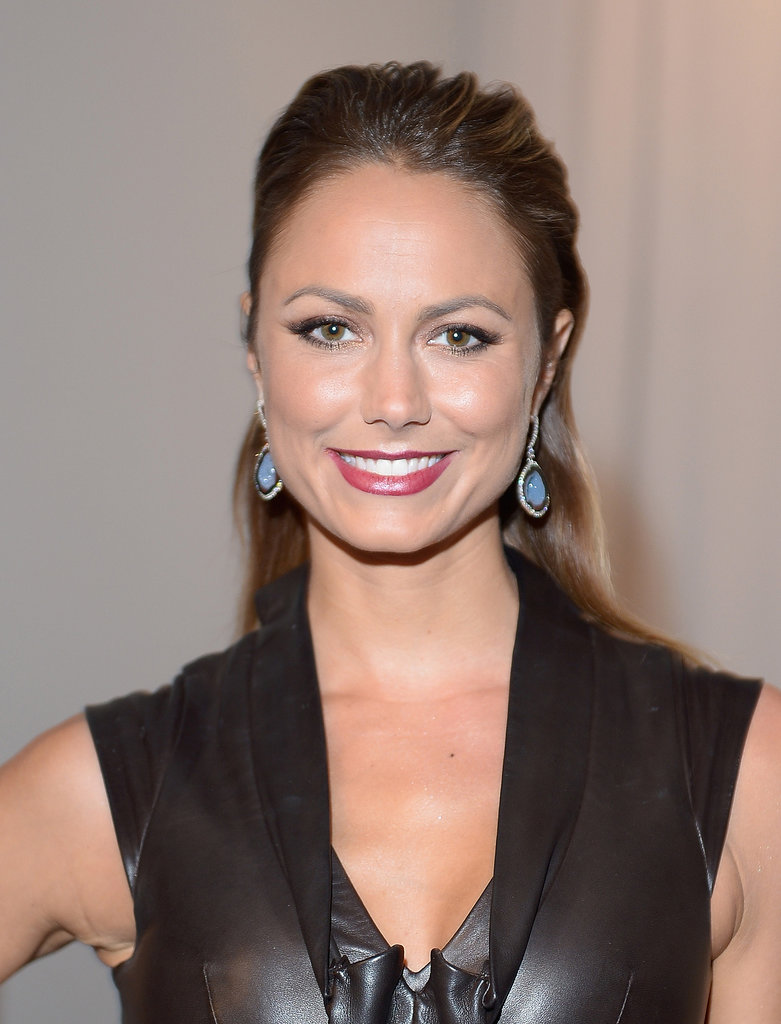 Stacy Keibler at Zac Posen Spring 2014.