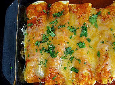 Chicken Enchiladas With Macayo's Red Sauce
