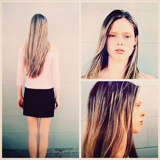 "Before she was a supermodel, she was just ""A Canadian school girl [with] long weirdly highlighted hair and someone asked me to take pics for a modeling agency."" Source: Instagram user cocorocha"