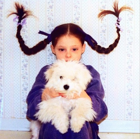 Young Coco was hair-raisingly cute. Source: Instagram user cocorocha