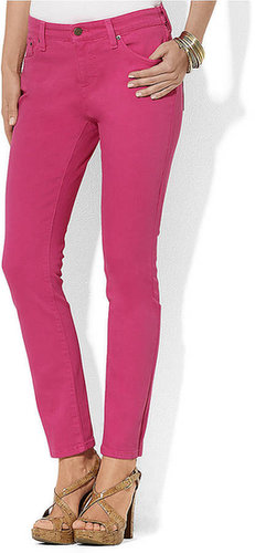 LAUREN JEANS CO. Slimming Modern Straight Ankle Jean