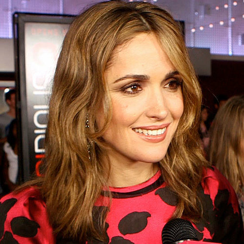 Rose Byrne Working With Jamie Foxx in Annie