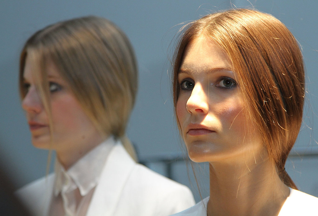 Smooth and simple hair at Tess Giberson.