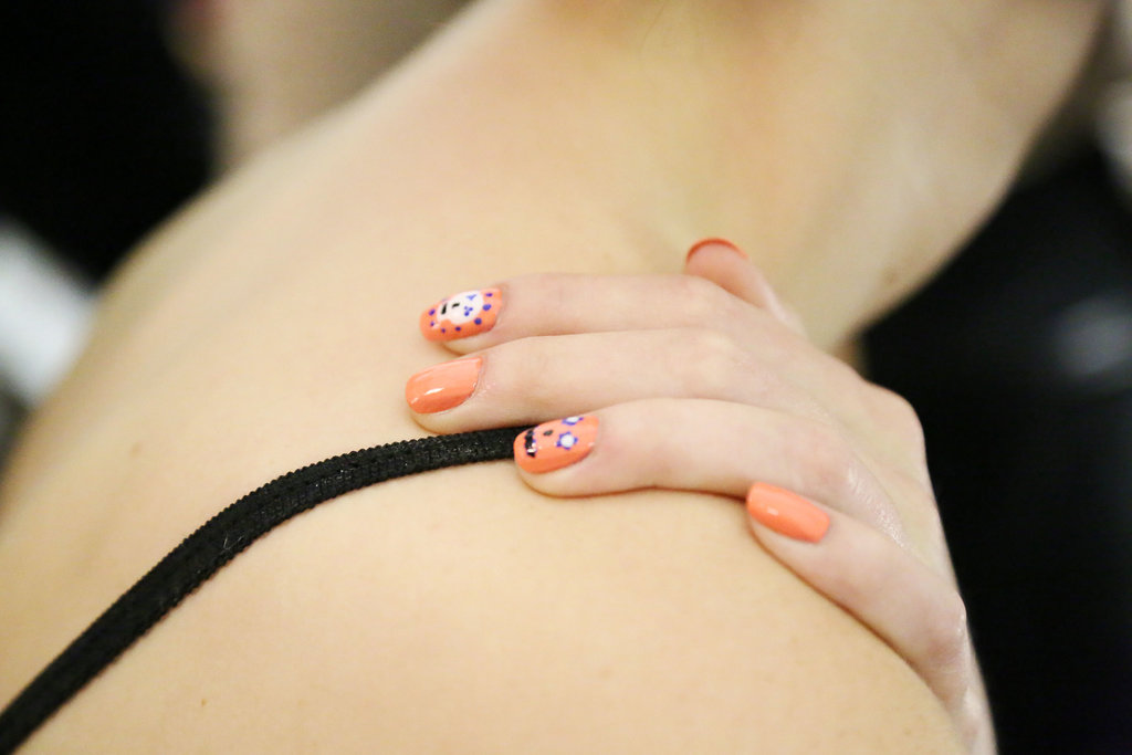 Cute nail details at Rebecca Minkoff.
