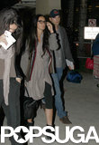 Ashton Kutcher and Demi Moore arrived at LAX together.