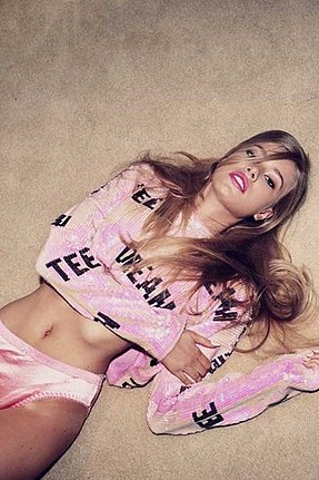 Wildfox Couture Teen Dream Billy Crop in Bel Air Pink