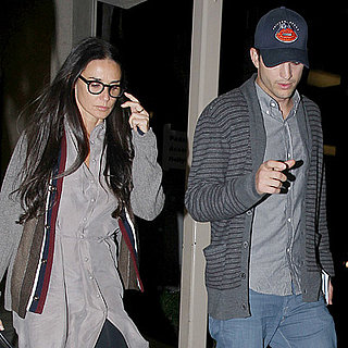 Ashton Kutcher and Demi Moore Arrive at LAX Together