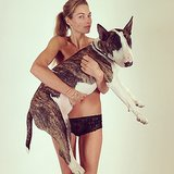 Jessica Hart posed with Marc Jacobs's dog, Neville. Source: Instagram user nevillejacobs