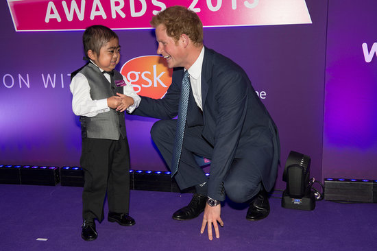 Prince Harry shook hands with a winner of a WellChild award.