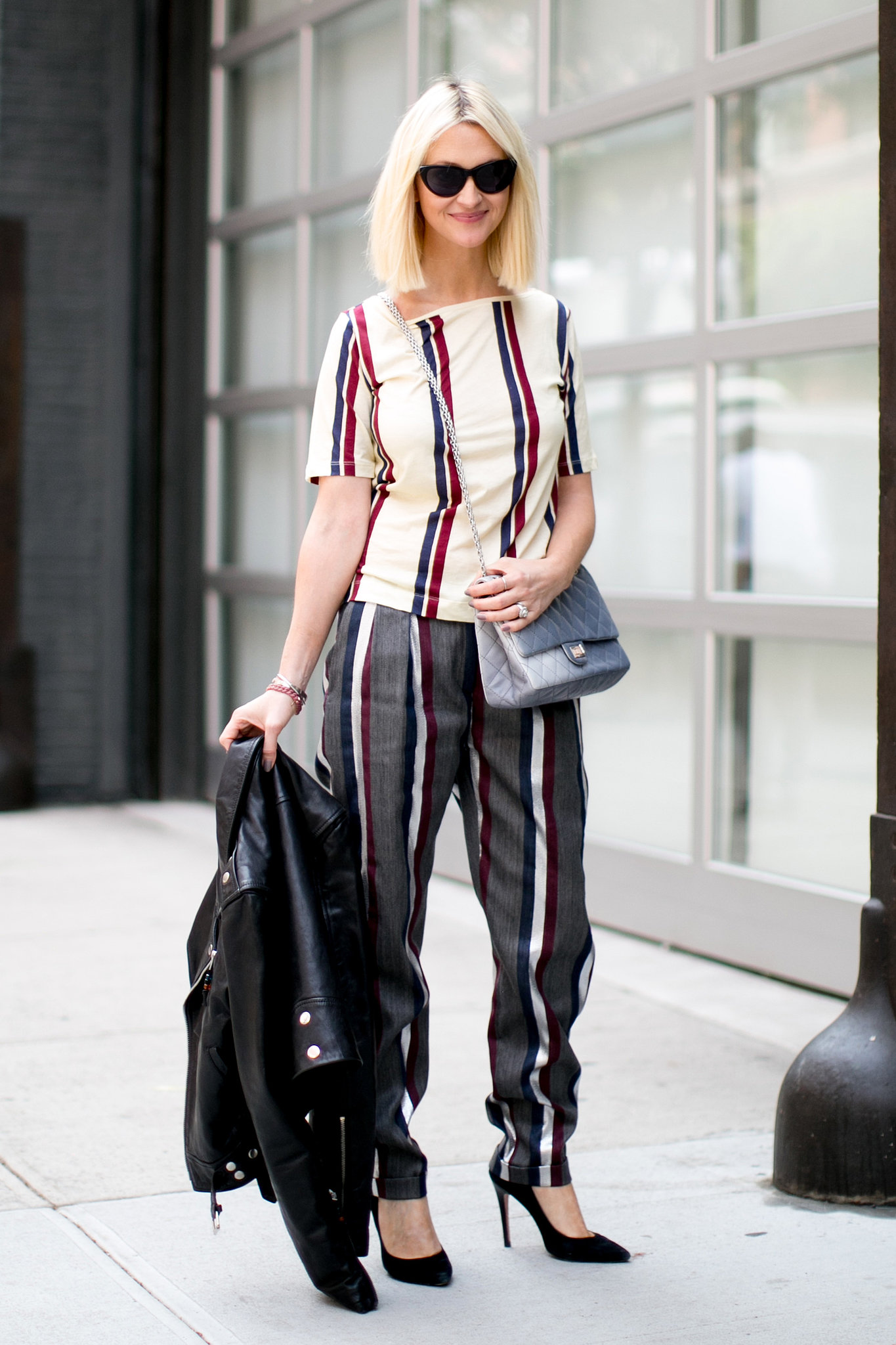 Zanna Roberts Rassi Was Stripe Happy From Head To Toe Hot Shots The Best Street Style At