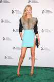 Leonardo DiCaprio's model girlfriend, Toni Garrn, stepped out for the Novak Djokovic Foundation dinner in NYC.