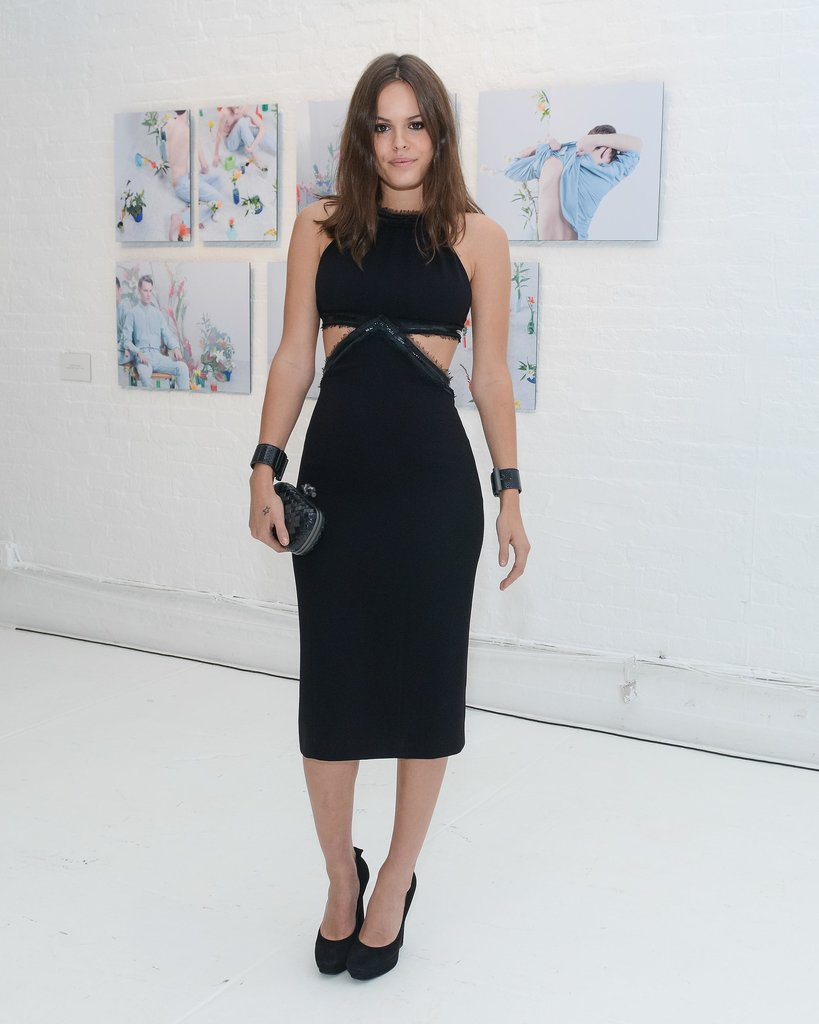 Atlanta de Cadenet Taylor showed some skin in cutouts while deejaying the Bottega Veneta bash.