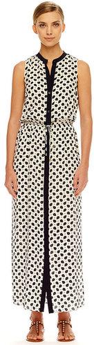 Michael Kors Pajama-Print Maxi Dress