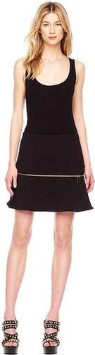 Michael Kors Zip-Detail Flounce Skirt