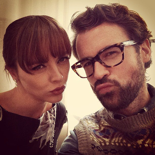 Brad Goreski and Christina Ricci gave their best duckface for the camera. Source: Instagram user mrbradgoreski