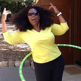 Oprah Winfrey showed off her Hula-Hooping skills. Source: Instagram user oprah