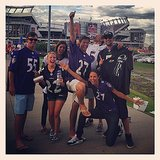 Stacy Keibler joined some fellow Baltimore Ravens fans at the team's game kickoff game in Denver, CO. Source: Instagram user stacykeibler