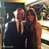 Jessica Biel posed with creative director of the year award winner Joe Zee at the Daily Front Row Fashion Media Awards. Source: Jessica Biel on WhoSay