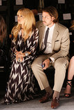 Rachel Zoe and Rodger Berman watched a rehearsal for her fashion show.