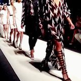 The full effect of Rachel Zoe's ladies marching down the runway. Source: Instagram user mandanadayani