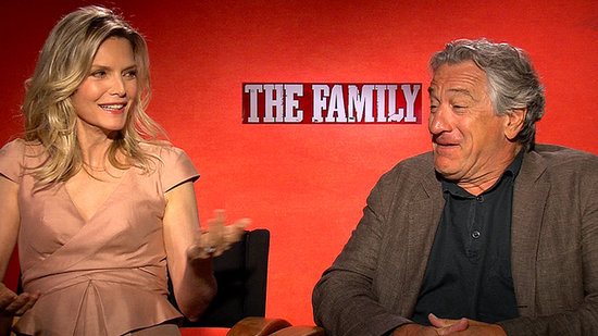"Michelle Pfeiffer and Robert De Niro Talk ""Finally"" Collaborating on The Family"