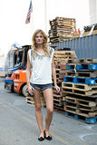 Constance Jablonski glowed in nothing more than cutoffs and a t-shirt.