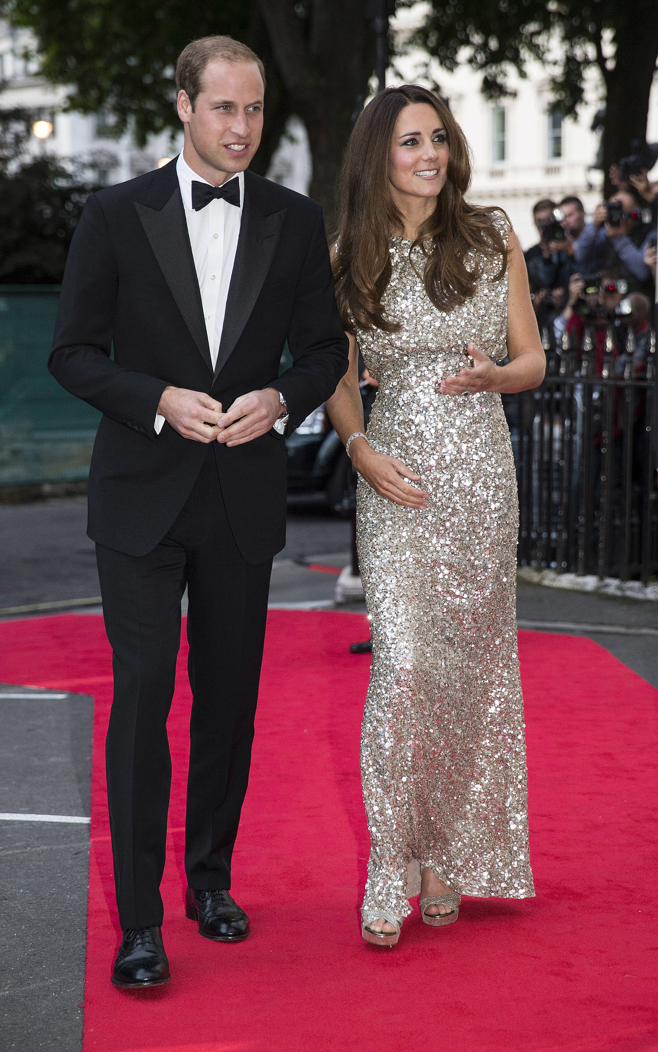 In September 2013, Kate wore a Jenny Packham gown for a night out with Prince William at the Tusk Conservation Awards in London.