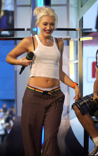 Gwen Stefani took the TRL stage with No Doubt in 2002.