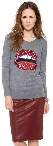 Markus lupfer Polka Dot Lips Sweater