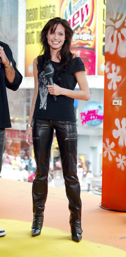 Angelina Jolie hit the TRL stage in 2003.