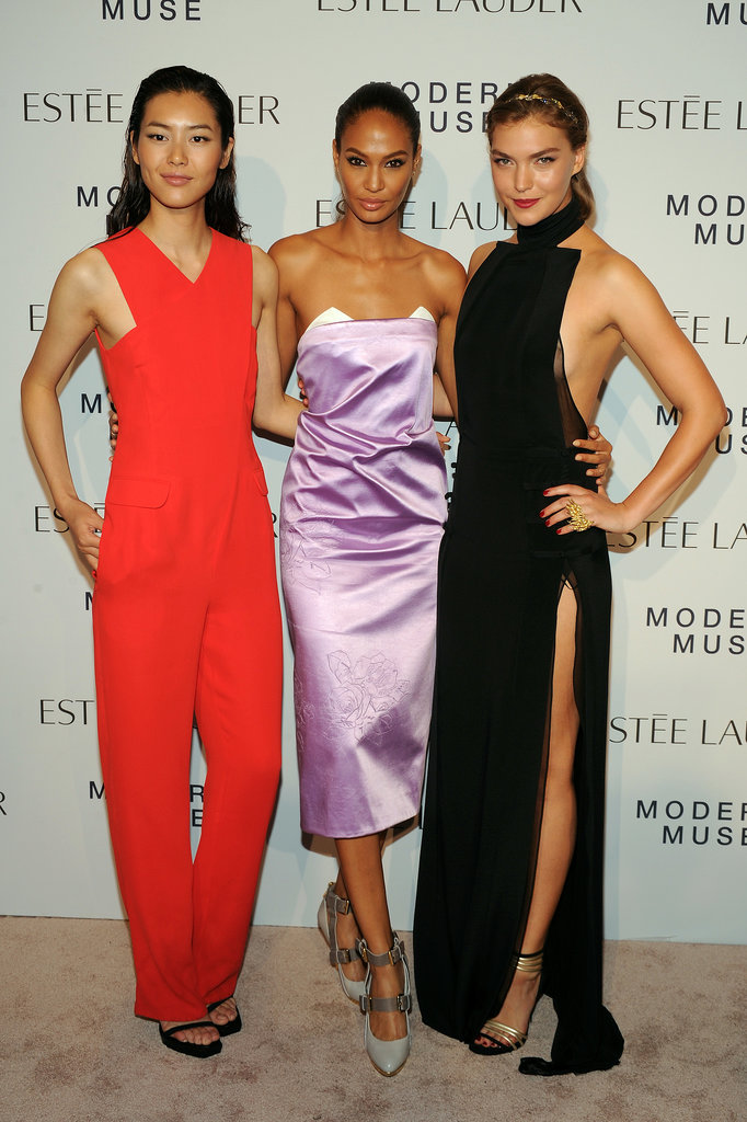 Liu Wen was red hot in Opening Ceremony alongside a Prabal Gurung-clad Joan Smalls, and Arizona Muse at the Modern Muse event.