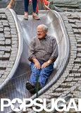 Miranda Kerr's dad took a turn on the slide.