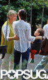 Miranda Kerr's mother, Therese, accompanied her to the playground with Flynn.