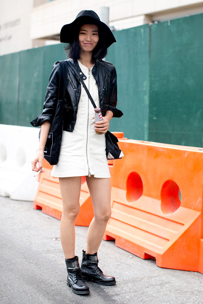 White and black with a little eclectic styling at play.