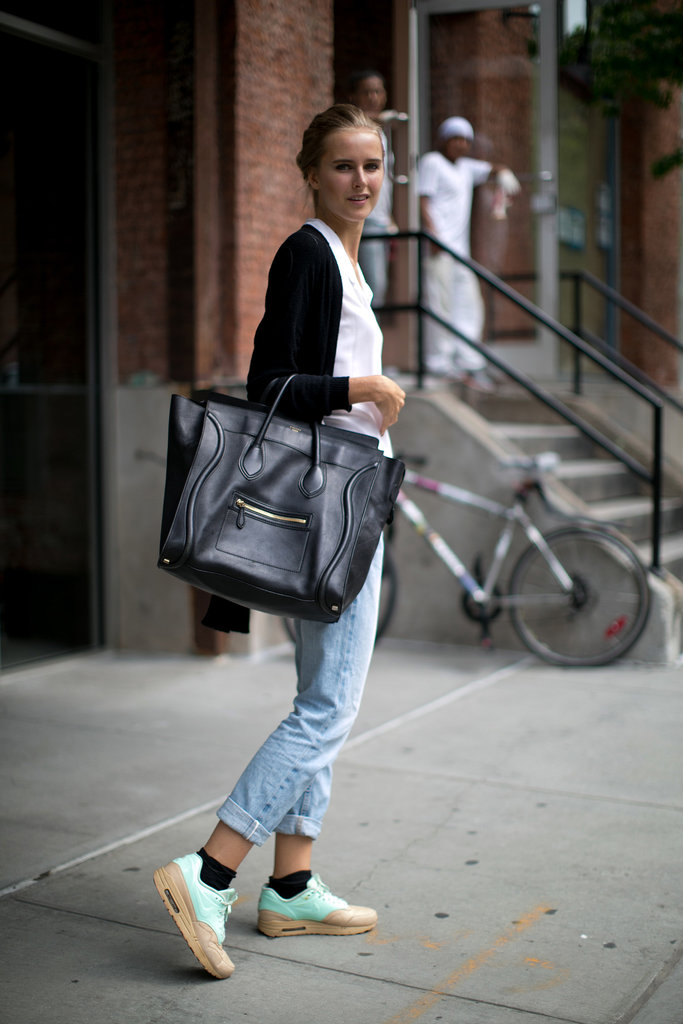 Some serious arm candy, thanks to that Celine tote.