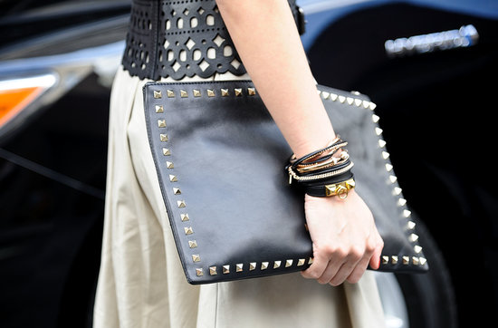 We knew it all along: studs make for a stylish clutch and computer case.