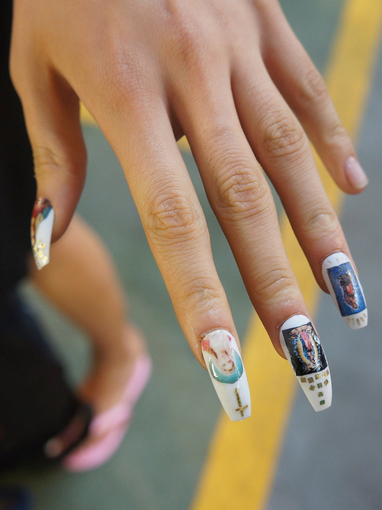 Nails by Sophy Robson backstage at House of Holland Spring 2014.