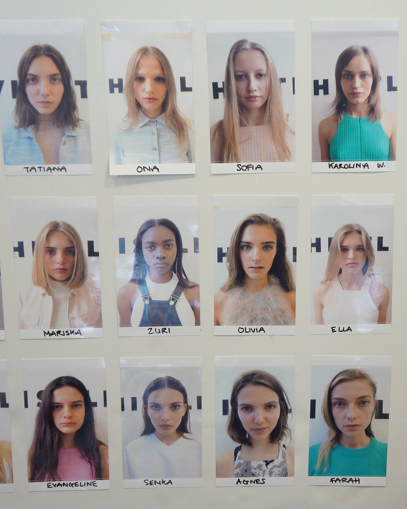 Backstage at Whistles Spring 2014.