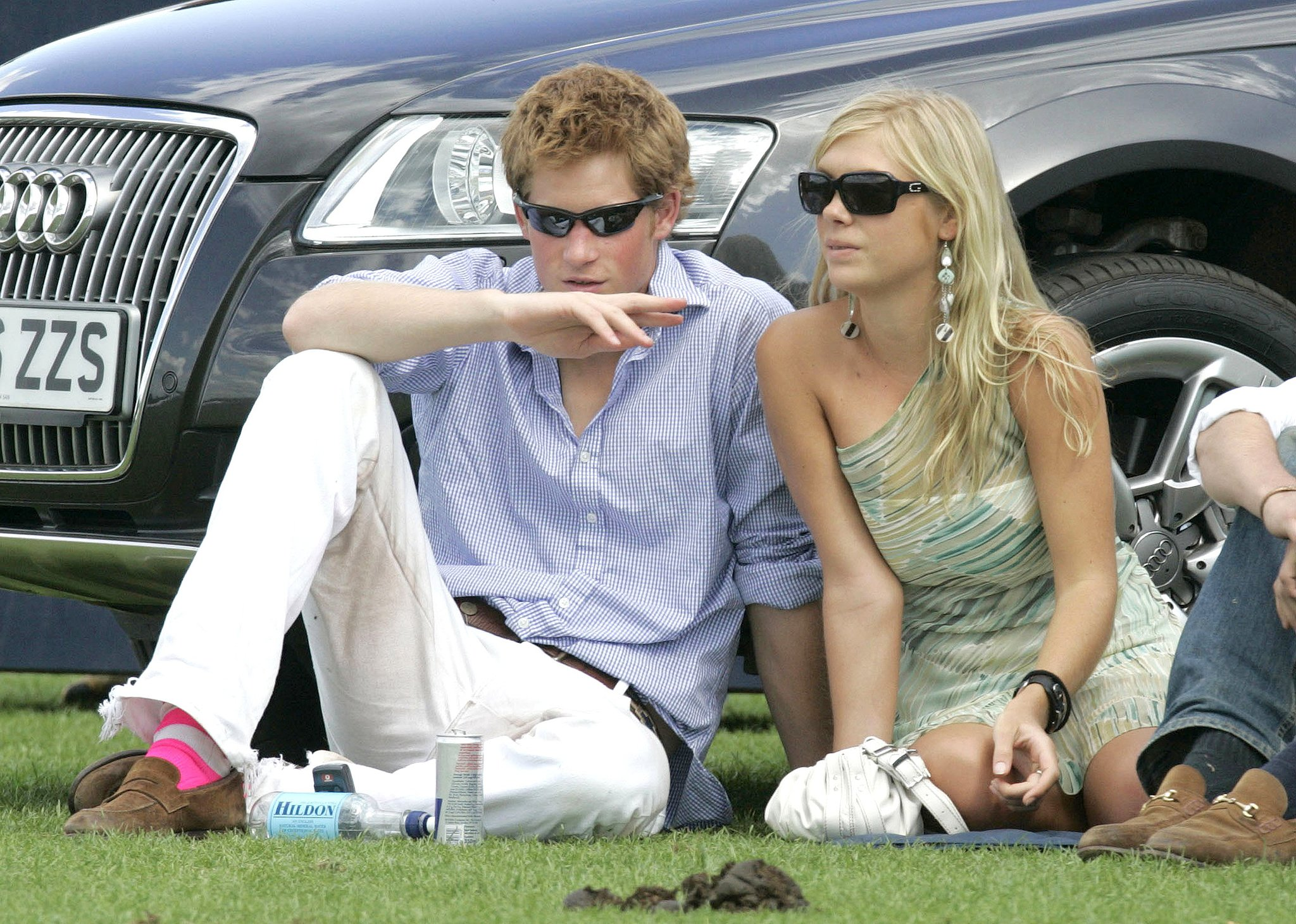 Prince Harry hung out with his girlfriend at the time, Chelsy Davy, during a 2006 polo match in England.
