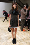 Alexa Chung popped up in the front row at J.W. Anderson's show.