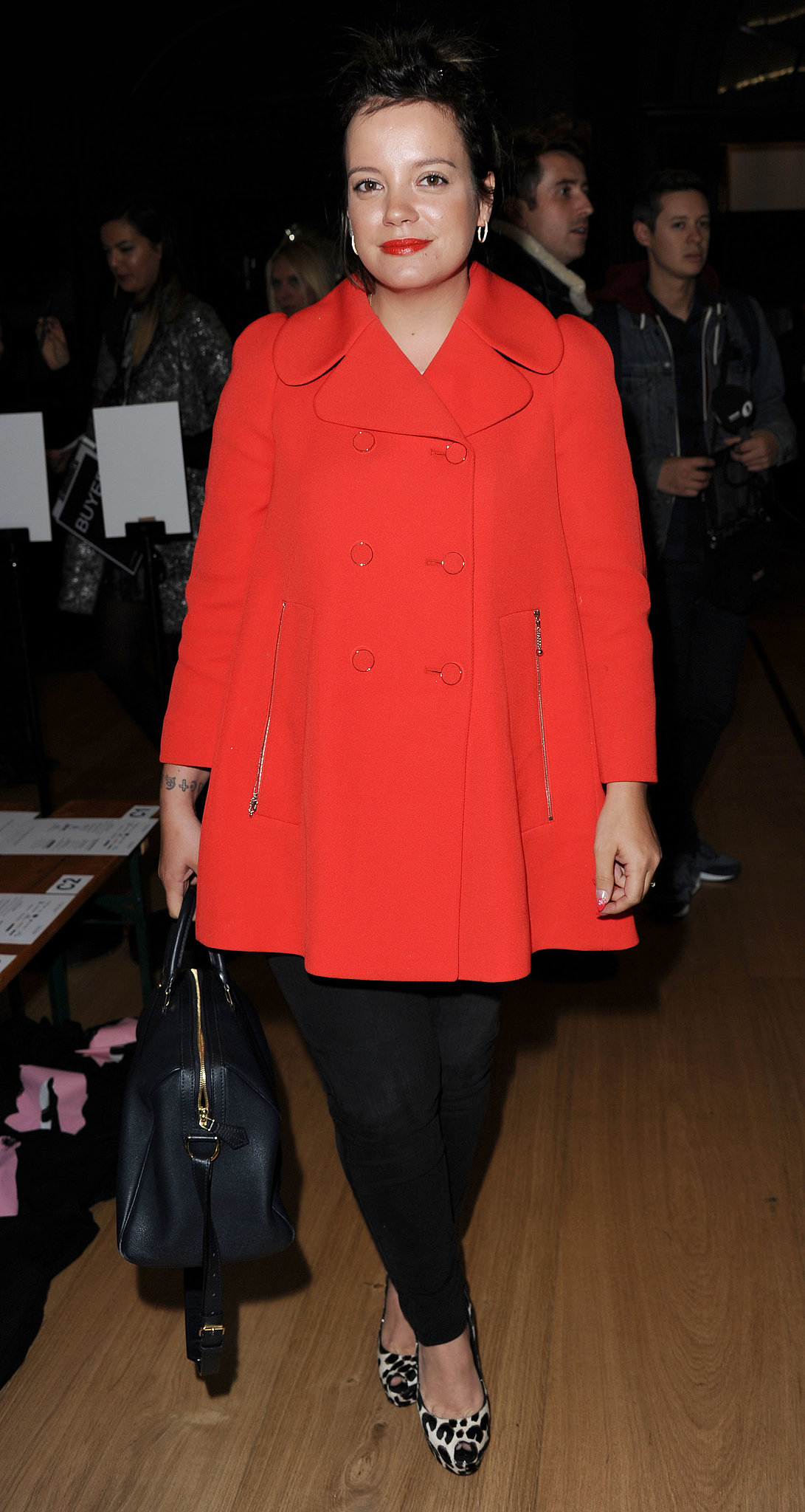 Lily Allen attended the Giles show during London Fashion Week.