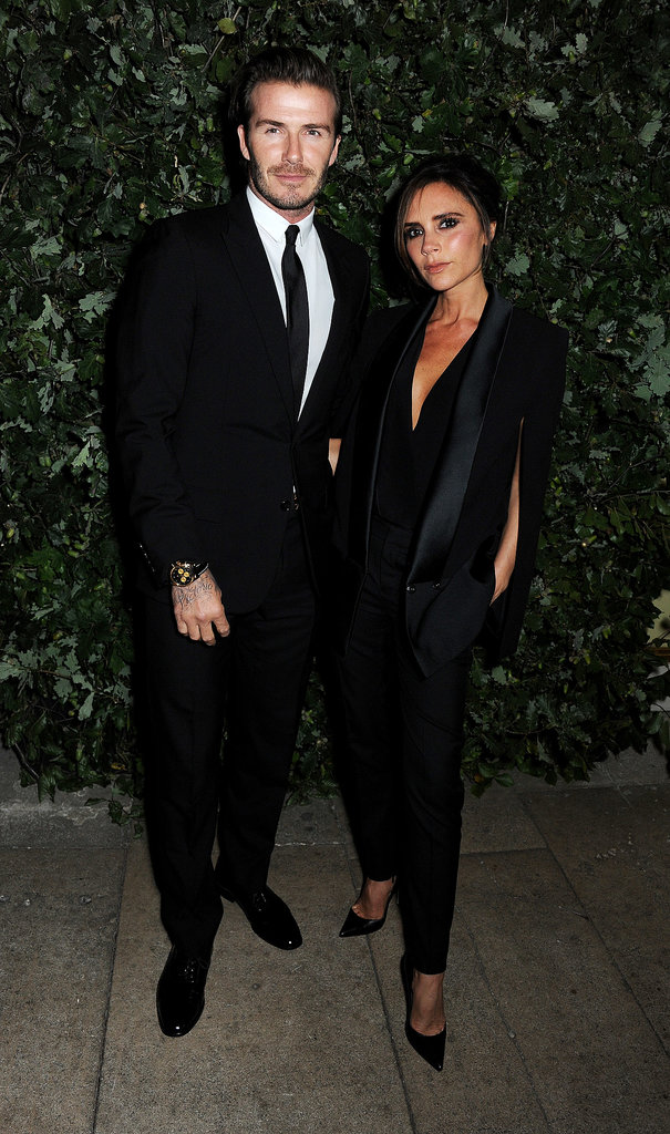 David Beckham and Victoria Beckham coupled up at Monday night's Global Fund party as part of London Fashion Week.